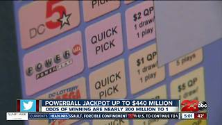 Powerball Jackpot up to $440 Million - Video
