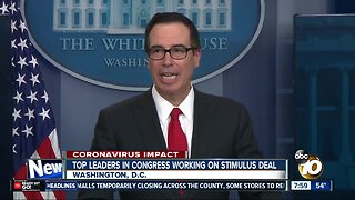 Top leaders in congress working on stimulus deal