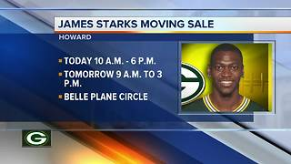 James Starks holds a moving sale - Video