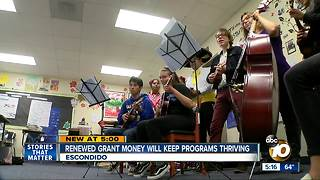 Renewed grant money will keep programs thriving - Video
