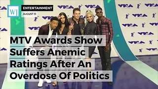 MTV Awards Show Suffers Anemic Ratings After An Overdose Of Politics - Video