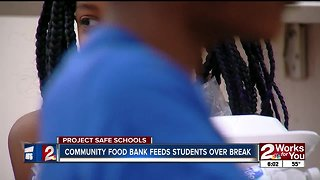 Community Food Bank feeds students over break