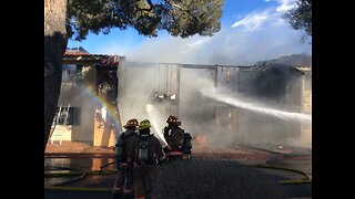 22 displaced after Las Vegas fire