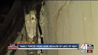 Family forced from home with no heat, power