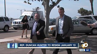 Congressman Hunter announces resignation date