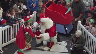 VIDEO: Santa arrives in Indianapolis by IndyCar, helicopter - Video
