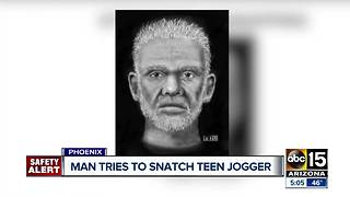 Police looking for man who tried to snatch jogger in Phoenix - Video