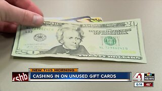 Cashing in on unused gift cards