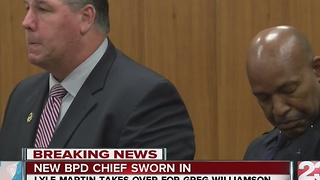 Lyle Martin formally recognized as new chief of BPD - Video
