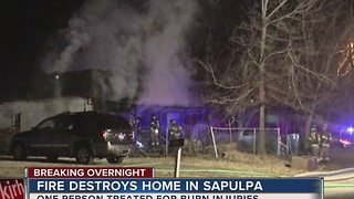 A fire reignites, destroying a Sapulpa home - Video