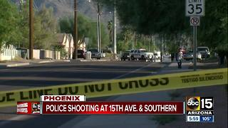 Police involved in south Phoenix shooting