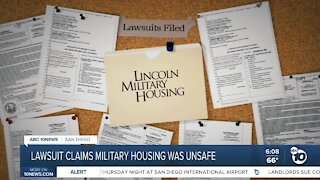 Lawsuit claims military housing was unsafe