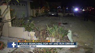 Hit-and-run driver leaves behind destruction in Paradise Hills