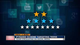 Social media pyramid scheme targeting teens - Video