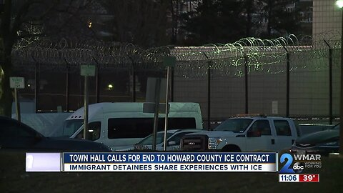Immigrant detainees speak out against Howard Co. ICE contract