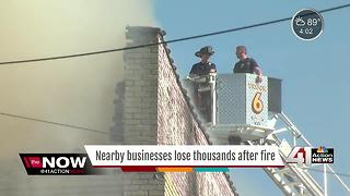 Fire investigation begins at furniture warehouse - Video