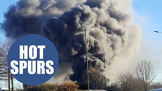 Tottenham Hotspurs' warehouse is on fire - Video
