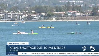 Kayak shortage because of pandemic?