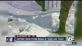 Looking back at the blizzard of 1978 that began 40 years ago today - Video