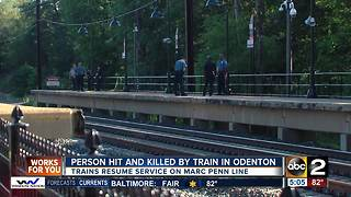 MARC Penn Line was delayed Wednesday due to fatality involving Amtrak train - Video