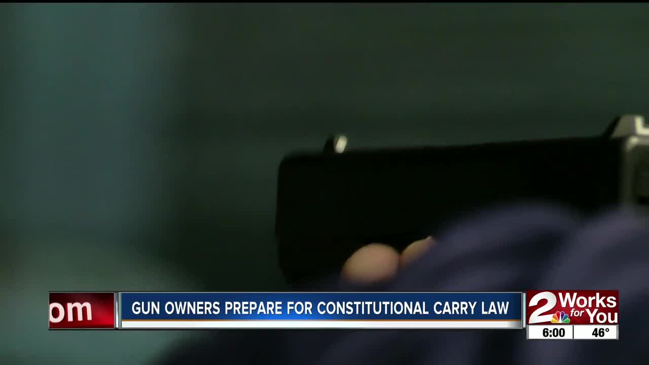 Gun owners prepare for constitutional carry law