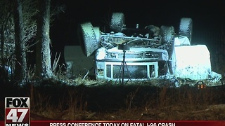 Press conference today to discuss fatal I-96 crash - Video