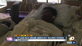 Hit-and-run driver seriously injures Clairemont woman