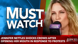 Jennifer Nettles Shocks Crowd After Opening Her Mouth In Response To Protests - Video