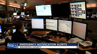 Waukesha County officials urging citizens to sign up for new targeted emergency alerts. - Video