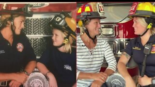 First female firefighter in Delray Beach now has firefighter daughter