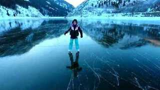 Family's Frozen Frolic on Clear Utah Lake Captured on Video - Video