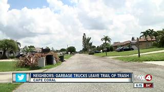 Waste Pro accused of spilling trash on Cape Coral streets - Video