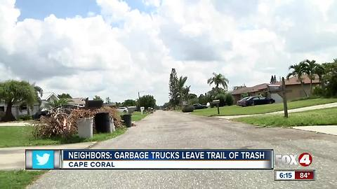 Waste Pro accused of spilling trash on Cape Coral streets