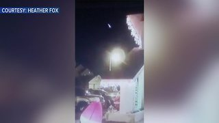 Riverview family caught video of fireball on security camera - Video