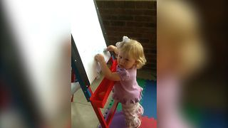 Trouble Making Baby Gets Caught In The Act - Video