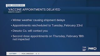 DeSoto County vaccines appointments delayed