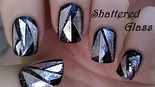 Shattered glass nail art tutorial - Video