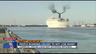 Carnival passengers upset because ships sail despite Hurricane Irma - Video