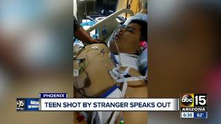 Teen speaks out after being shot in Phoenix