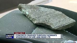 Woman 'grateful to be alive' after rock slams through her windshield on I-696 - Video