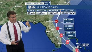 Hurricane Isaias expected to reach Florida's southeast coast Saturday