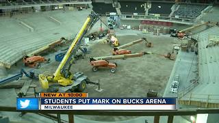 Students learn architecture, construction from new Bucks arena - Video