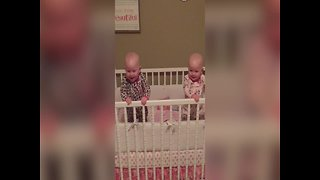 Twin Babies Can't Stop Laughing at Silly Mom! - Video