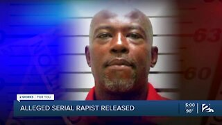 Alleged serial rapist released