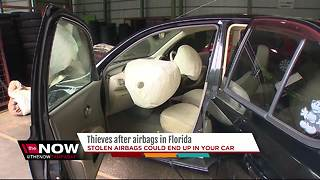 Thieves after airbags in Florida - Video
