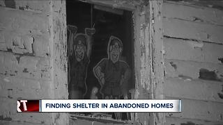Finding shelter from the cold in abandoned homes