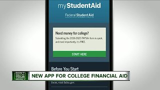 New app for student financial aid