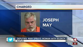 Man Arrested for Spraying Bleach on Woman - Video