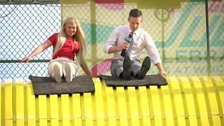 Shaun Gallagher rides the Giant Slide at the Wisconsin State Fair - Video