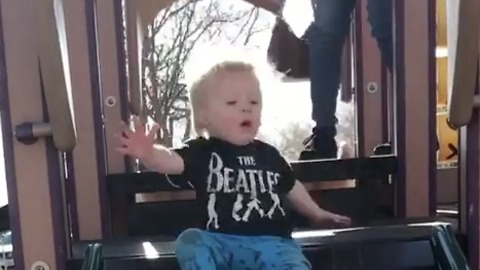 Children and slides are proven mortal enemies